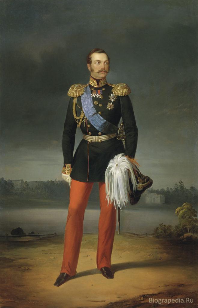 Александр II (1856, художник E. Botman, Русский музей)