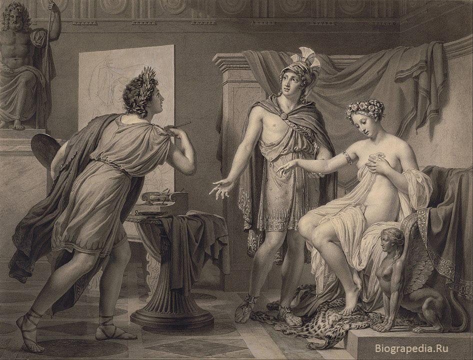 Александр уступает Кампаспу Апеллесу, художник - Jérôme Martin Langlois, 1819