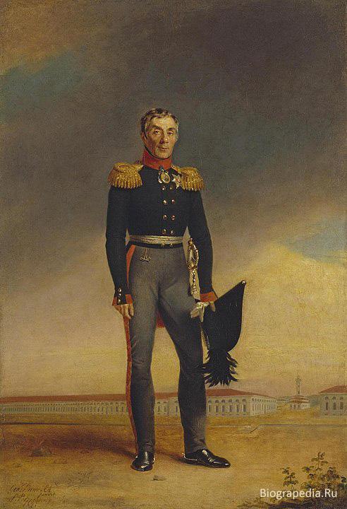 Граф Алексей Андреевич Аракчеев (1769-1834). Портрет Дж. Доу, 1823 г.