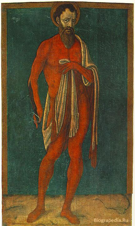 Апостол Варфоломей Святой. Художник - Matteo di Giovanni