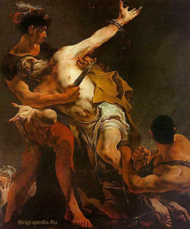 Страдания святого Варфоломея. Художник - Джованни Тьеполо, 1722