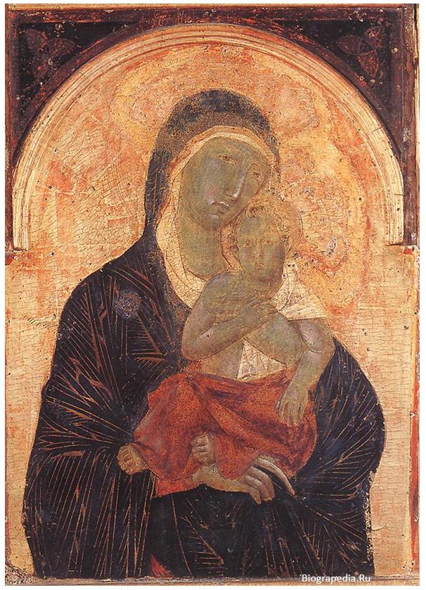 Дуччо ди Буонинсенья. Мадонна с Младенцем.