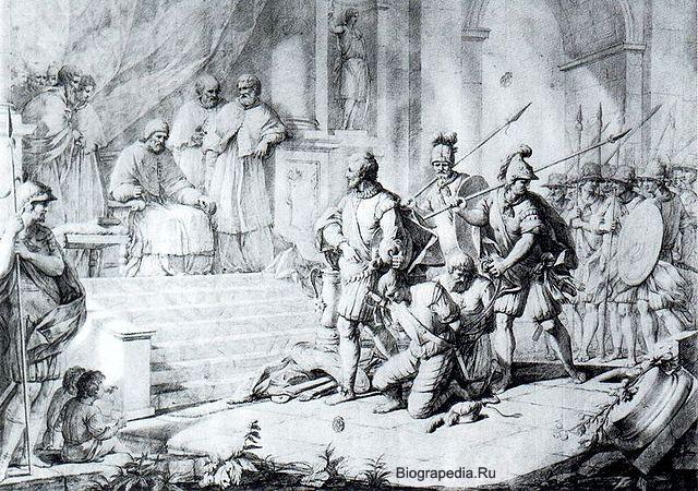 Фернандес де Кордова (Великий капитан) перед папой Александром VI Борджиа (художник Zacarías González Velázquez, 1763-1834)