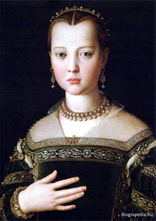 Мария Медичи (художник - Аньоло Бронзино)
